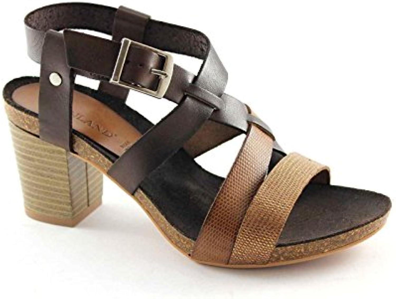 GRUNLAND Cima SB0678 Multi Cuoio Sandali Donna Pelle Cinturino Tacco Tacco Tacco | Eccezionale  c4ae12