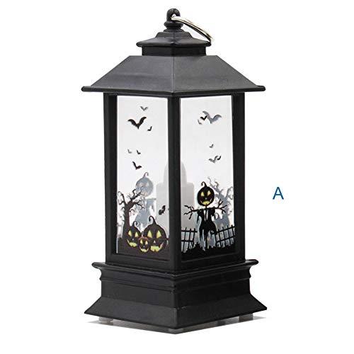 KNMAYE Nachtlicht Helle Halloween-Dekoration führte Lampenkerze mit geführten Tee-Licht-Kerzen für Halloween-Dekoration-Teil geführte Schädel-Kerzen-Beleuchtung