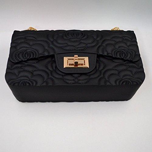 LAHAUTE Damen Sommer neue Handtasche Mode Schulter Beutel mattiert mattes Minipaket Schwarz