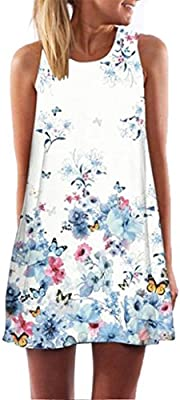 Vintage Boho vestido HARRYSTORE 2017 caliente venta de verano sin mangas playa impreso corto vestido mini