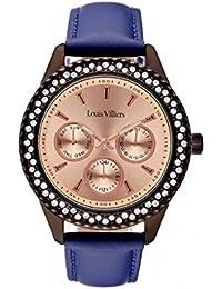 Reloj mujer Louis Villiers en acero rosa dorado 41 mm lv2081