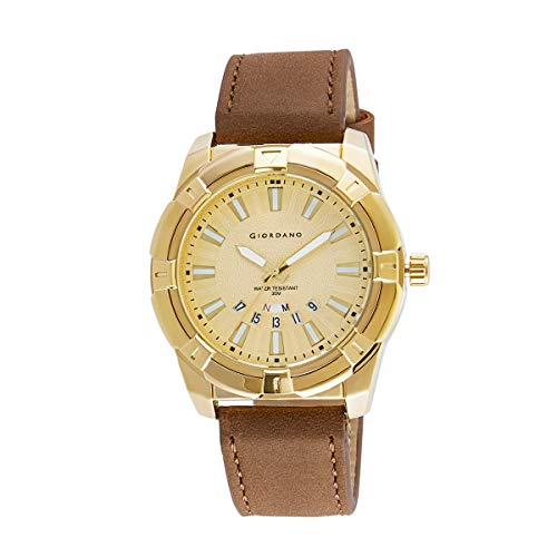 Giordano Analogue Gold Dial Men's Watch - C1111-01