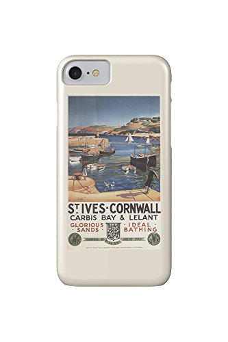 st-ives-england-harbor-scene-with-girl-and-gulls-railway-vintage-travel-poster-iphone-7-cell-phone-c