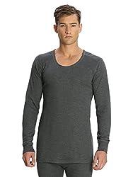 Jockey Mens Cotton Thermal Vest (8901326014448_2401_L_Charcoal Melange)