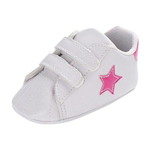 SOMESUN Fashion Kleinkind Baby Jungen Sandalen Neugeborenes Krippe Schuhe Star Sommer Atmungsaktiv Kunstleder Weiche Sohle Anti-Rutsch Beiläufig Freizeit Turnschuhe (6-12 Monate, Rosa #2)