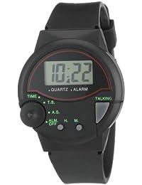 Shaghafi 245000000001 - Reloj digital de caballero de cuarzo con correa de goma negra