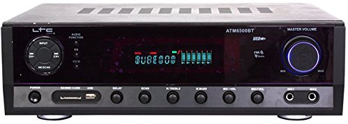 Ltc 10-7053 Hi-Fi Stereo Verstärker mit Bluetooth und Karaoke, 50W/20W schwarz