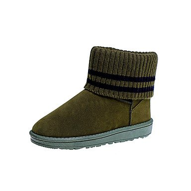 RTRY Scarpe Donna Pu Fall Winter Snow Boots Fashion Stivali Stivali Tacco Piatto Round Toe Stivaletti/Stivaletti Gore Per Ufficio Outdoor &Amp; Carriera US6 / EU36 / UK4 / CN36