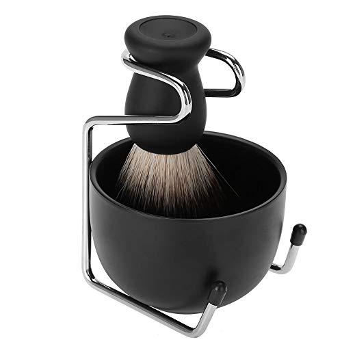 Kit de rasage pour barbe - comprenant brosses, savon, bols, supports, convient aux salons de coiffure et aux familles