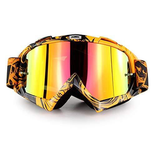 ASUD Zwei (2) Paare Motorradbrillen Crossbrille Schutzbrille Sport Tactical Glasses Staubdichte Combat Military Sonnenbrille Für Kinder, Jungen, Mädchen, Jugendliche, Männer, Frauen,A
