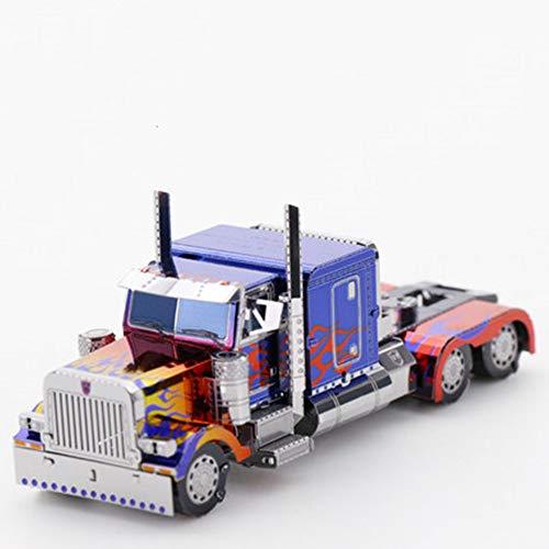 Optimus Prime Metall Puzzle kreative 3D Spielzeug Montage Modell handgefertigte Kinder Urlaub Geschenk rot + Werkzeug Einheitsgröße