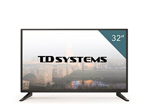 """41mY6ttVKbL - TD Systems K32DLM7H - Televisor LED de 32"""" (HD, 3X HDMI, VGA, USB Reproductor y Grabador) Color Negro"""