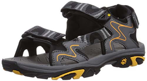 Jack Wolfskin BOYS OCEANSIDE, Jungen Sport- & Outdoor Sandalen, Grau (burly yellow 3800)