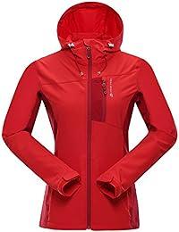 Alpine Pro Mujer Bren niba Jacket sshell, primavera/verano, mujer, color rojo, tamaño extra-small