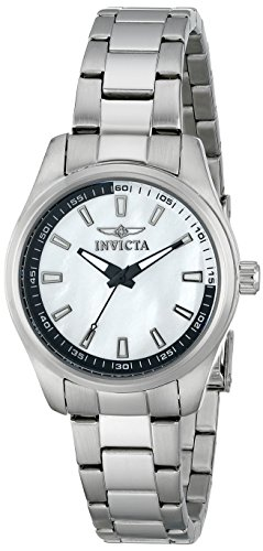 Invicta Women's Specialty Quartz Watch with White Dial Analogue Display and Silver Stainless Steel Bracelet 12830