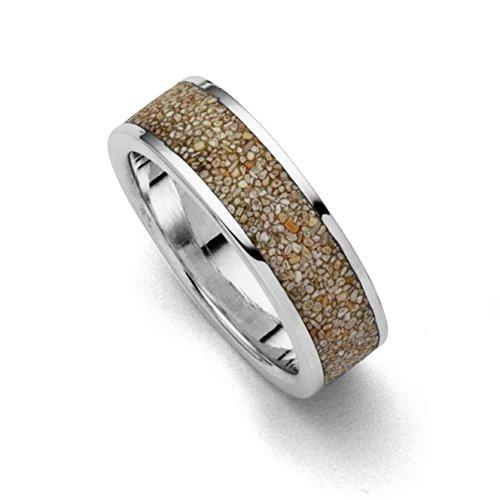 """Ring""""Strandsand"""", rhodiniert 925er Silber"""