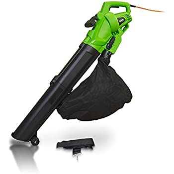 Garden 3000w Electric Leaf Blower Vacuum Shredder Mulcher & 10m Cable - 2 Year Warranty