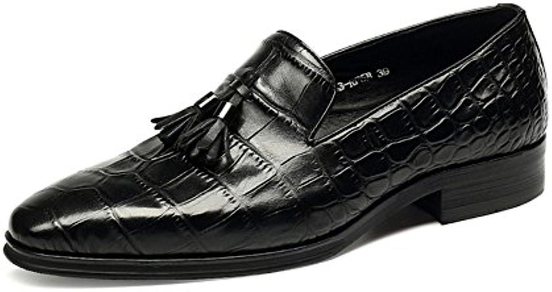 ZPEDY Scarpe di Cuoio Scarpe Casual Casual Casual da Uomo Coreano Scarpe Estive di Moda Britanniche | Abile Fabbricazione  04fe24