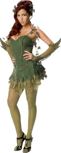 Kleid Ivy Poison Green (Sexy Poison Ivy Batman Damenkostüm Karneval Verkleidung, green, UK Ladies size M)