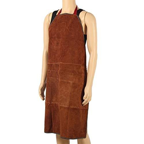 FUNXS 100x70cm Schweißer Schürze Garment thermischer Schutz Leder Schweißen Schweißen Drei-Stich (Farbe : T1)