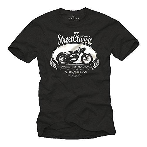 Motorrad T-Shirt für Herren DKW RT 250 Oldtimer schwarz Größe L