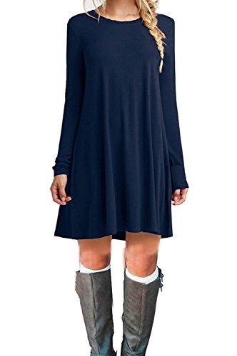 ASCHOEN - Robe - Manches Longues - Femme bleu foncé