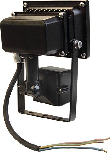 elumico® LED Flutlicht/ Fluter/ Flood/ Hallenstrahler 20W Lm: 1280Lm, Abstrahlwinkel: 120° Linse: Klar, tageslicht- weiß (5.000K), Gehäuse: Mattschwarz, PIR- Sensor, IP44, CE/ RoHs, 2 Jahre Garantie - 2