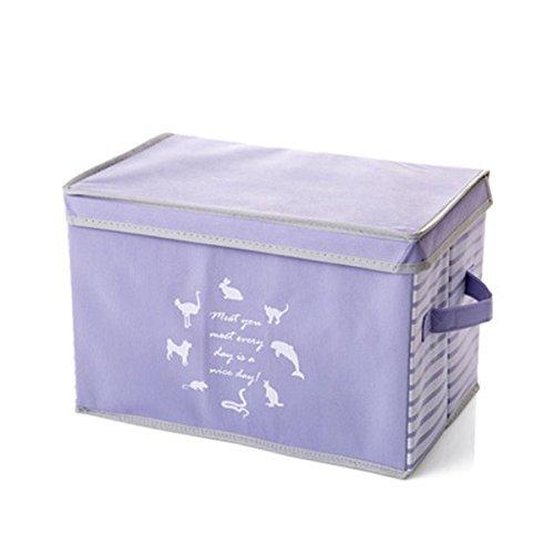 bureze grande ropa caja de almacenamiento con tapa
