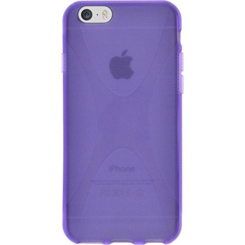 PhoneNatic Custodia Apple iPhone 6s / 6 Cover trasparente X-Style iPhone 6s / 6 in silicone Case Porpora
