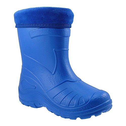 GALLUX - Superleichte Kinder EVA Gummistiefel in tollen Farben und mit herausnehmbaren Futter Blau