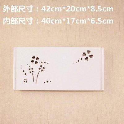 CLG-FLY Creative parete giardino TV set-top-box router portaoggetti ripiano montato a parete staffa a mensola ripiano separatore,10