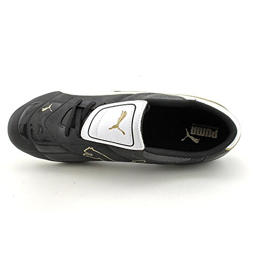 Puma Esito III R HG Hommes Synthétique Chaussures Baskets de sport Black-White-Team Gold