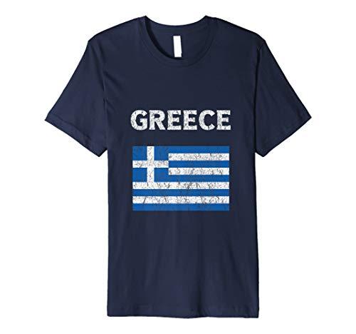 Vintage Griechenland T-Shirt Griechische Flagge T-Shirt Hellas Flagge
