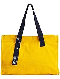 VILEBREQUIN - Bolsa de playa grande en algodón de color liso