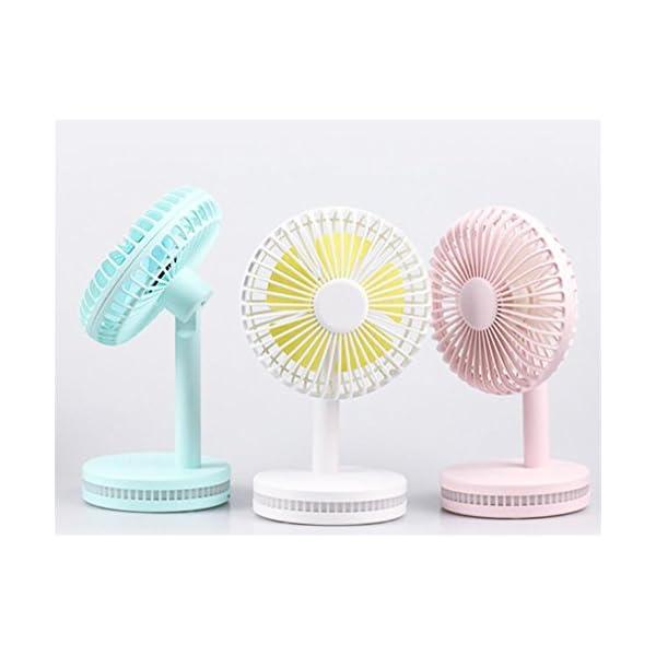 ELEGENCE-Z-Ventilador-De-Escritorio-Porttil-De-Mini-Fan-Night-Light-De-La-Noche-Mini-Ventilador-Porttil-De-USBYellow