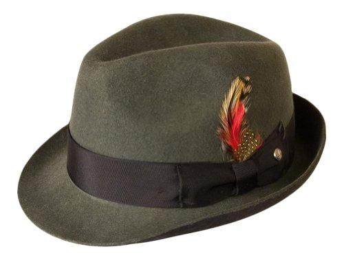 Gamble & Gunn grau, zweifarbig, Wollfilz, Vintage-Stil