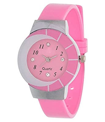 Briota Fashion Analogue Pink Dial Girl's Watch (BRT - 25)