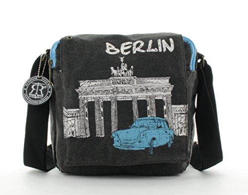 Robin Ruth Berlin Überschlagtasche Trabi Gr. S schwarz/weiß