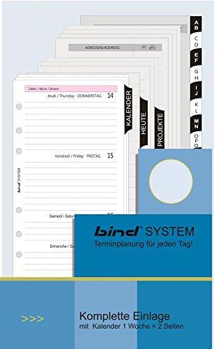 bind Kalender Komplett Einlage 2018 1 Woche 2 Seiten A6 inklusive Register und Systemblätter B260018 | Systemeinlage, Jahresinhalt, Wochenplanung | Manager, Geschäftsleute