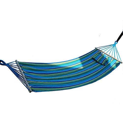 TZZ Hamac de Camping -.2 Cordes Charge de 440 lbs Hamacs de Voyage en Nylon léger de Parachute 340T pour la randonnée, hamac Simple Compact portatif avec Sac de Voyage Parfait pour la Cour extérieure