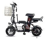 ABYYLH Vélo Électrique Homme/Femme Pliable Montagne E-Bike Tricycle Trottinette,Black
