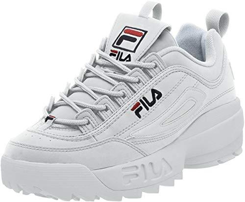 Zapatillas Fila Strada Disruptor para hombre, Blanco blanco, rojo White/Peacoat/Vinred, 40 EU