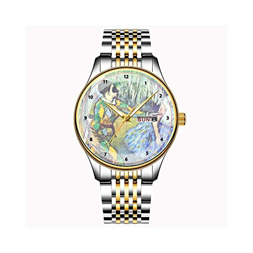 Uhren Herrenmode Japanische Quarz Datum Edelstahl Armband Gold Uhr Happy Halloween Black Cat Armbanduhr