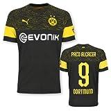 BVB Auswärtstrikot Erwachsen Saison 2018/19, Größe:L, Spielername:9 Paco Alcacer