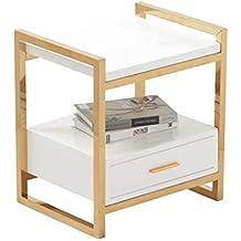 Home-table ZWD Mesa de Noche de Oro Creativa, Esquina Lateral de la Mesa