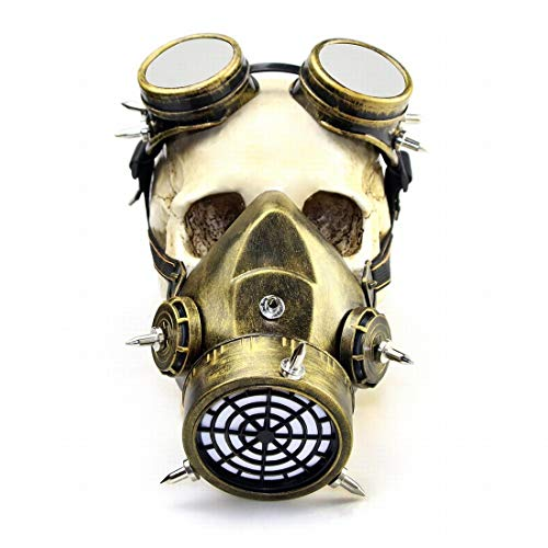 Funytine Halloween Retro Gothic Maske Make-up Steampunk Gasmaske für Cosplay-Party (Color : 3)