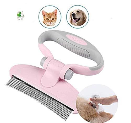 PET Curved Pin Header Grooming Brush Tool Comb Edge Trimming Dog Cat Fur Entfernung,Pink