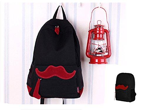 Fox Eule Retro Satchel Umhängetasche/Rucksack Praktische Outdoor Walker Tragetasche Bergwanderer, Black mustache (Fox Black-handtasche)