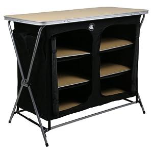 41mYII3DtwL. SS300  - 10T Flapbox - Camping cupboard, 6 draws + top storage box, foldable steel frame, 53x110x90 cm