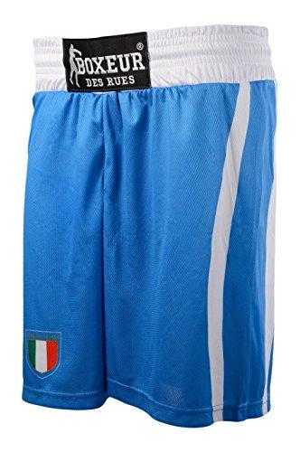 BOXEUR DES RUES BXP-1455B Pantalones Cortos de Boxeo Nacional Italiana, Hombre, Royal, S